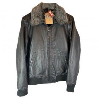 Schott Men's Leather Bomber Jacket