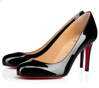 Christian Louboutin Fifille 85 Black Patent Leather Pumps