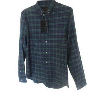 Pretty Green Men's Plaid Studded Collar Shirt
