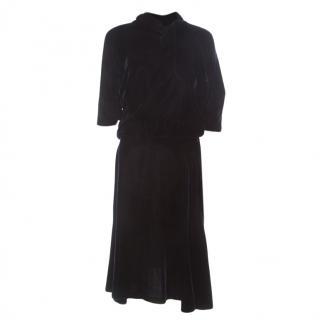 Jil Sander Blue Velvet Dress Sz34 (SM)