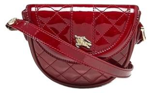 Burberry Red Patent Leather Mini Crossbody Bag