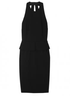 Moschino Cheap & Chic Crepe Halterneck Peplum Dress