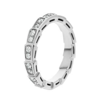 Bvlgari Serpenti Pave Diamond Wedding band in 18kt White Gold