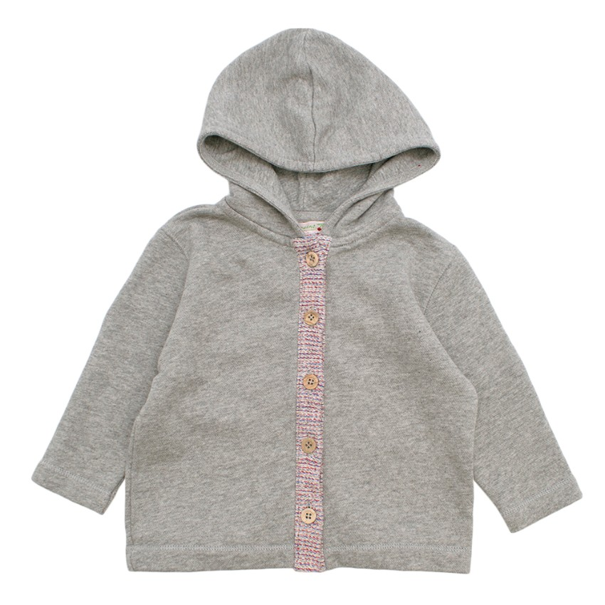 Bonpoint 18M Grey Knitted Hoodie