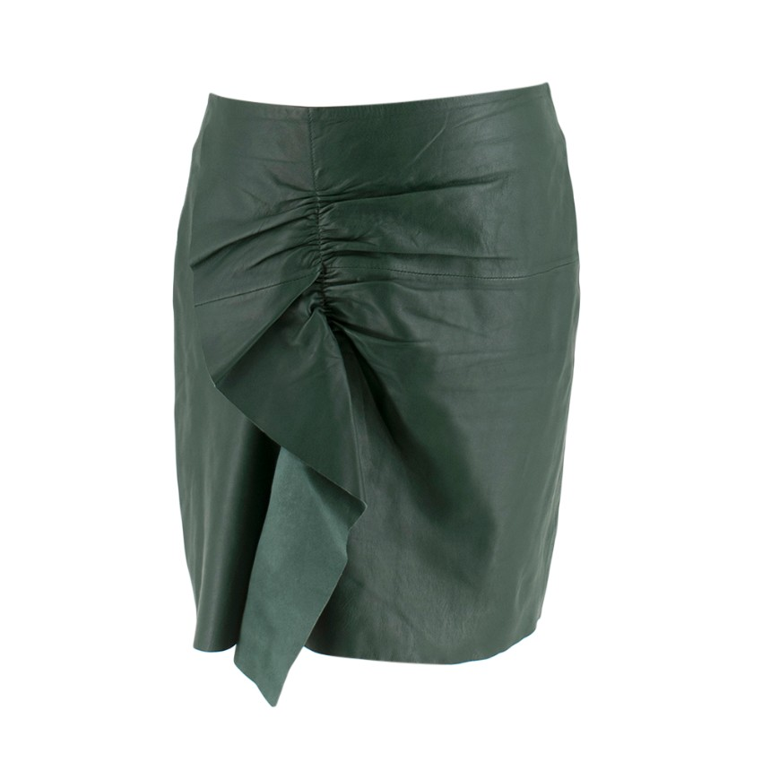 Designers Remix Charlotte Eskildsen Green Leather Skirt