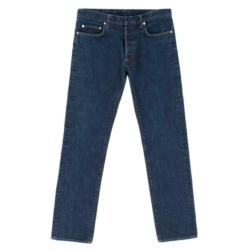 Christian Dior Blue Denim Straight Leg Jeans
