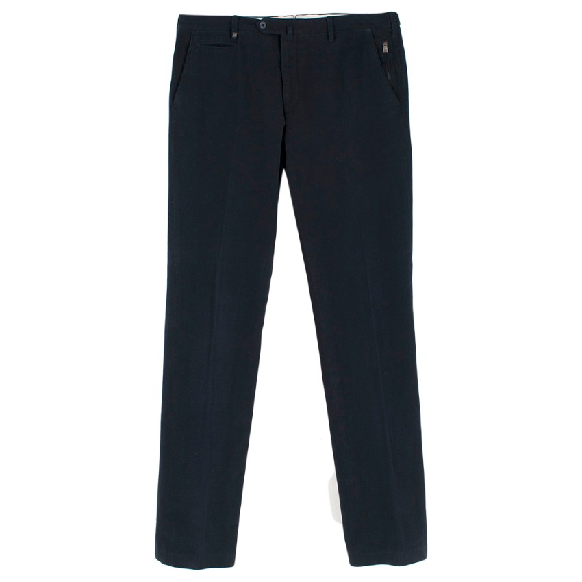 Corneliani Navy Wool Cord Trousers