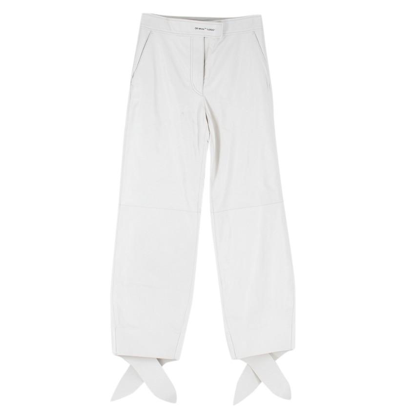 Off-White C/O Virgil Abloh high-waist balloon-leg trousers - Current