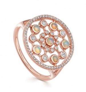 Astley Clarke Large Icon Nova Opal Ring in Rose Gold