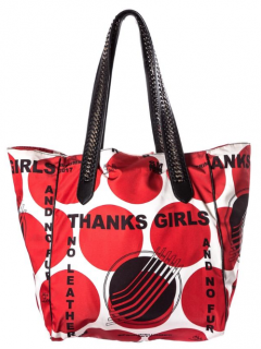 Stella McCartney Thanks Girls Falabella Go Red & White Tote