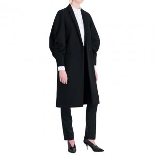 Victoria Beckham Draped Raglan-sleeve Wool Coat