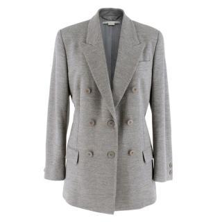 Stella McCartney Grey Double Breasted Wool Blazer