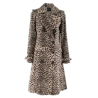 Lanvin Double-Breasted Leopard Print Coat