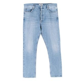 AGOLDE Blue Denim Straight Leg Jeans