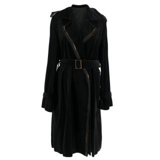 Lanvin Black Longline Wrap Coat