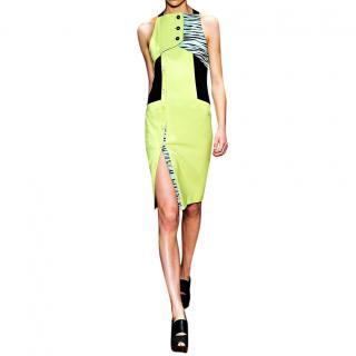 Proenza Schouler hyper-saturated chartreuse crepe dress