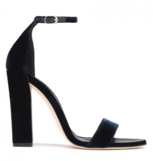 Victoria Beckham Midnight Blue Velvet Sandals