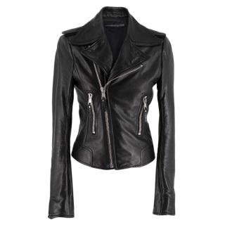 Balenciaga Black Asymmetric Leather Jacket