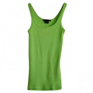 Ralph Lauren green cotton tank top