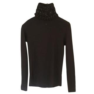 Chanel Fitted Tweed Polo Neck Jumper