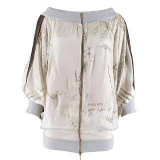 Stella McCartney Off-Shoulder Printed Bomber Jacket