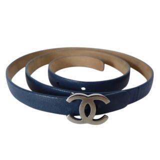Chanel Blue Lambskin CC Belt