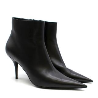 Balenciaga Black Leather Knife Ankle Boots