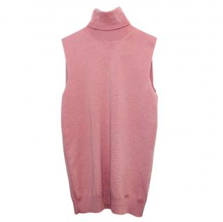 Gucci dusty pink wool polo neck top