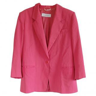 MaxMara pink oversized wool blend blazer