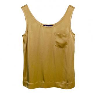 Ralph Lauren Gold Vest Top