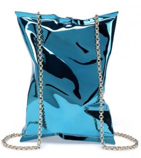 Anya Hindmarch Blue Crisp Packet Shoulder Bag clutch