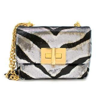 Tom Ford Zebra Sequin Natalia Shoulder Bag