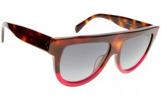 Celine Red Tortoiseshell Shadow Sunglasses