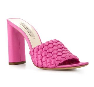 Casadei Pink Daytime Woven Mules