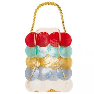 Vanina Noisette beaded shell tote
