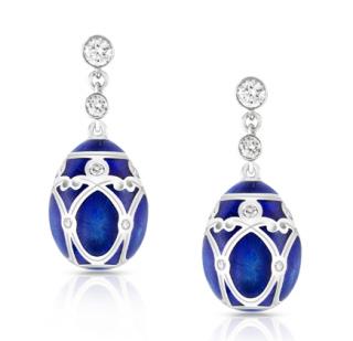 Faberge Palais Yelagin Royal Blue Earrings