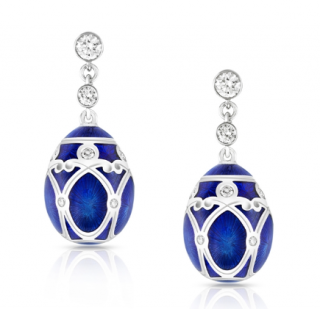 Faberge Palais Yelagin Royal Blue Earrings (with authenticity certificate)