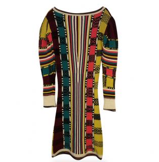 Etro Striped Multi-Print Wool Dress