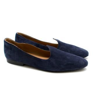 Le Monde Beryl Blue Suede Venetian Slippers