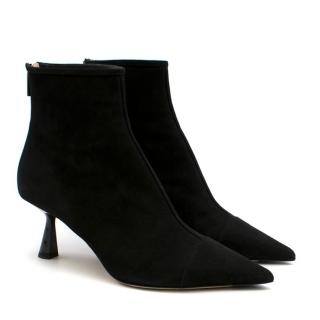 Jimmy Choo Black Suede Kix 65 Ankle Boots