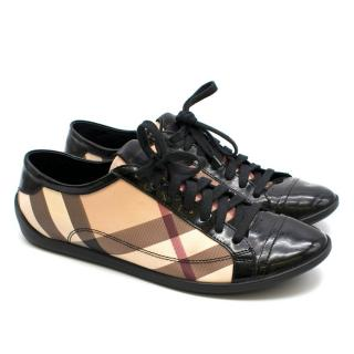 Burberry Vintage Check and Patent Leather Sneakers
