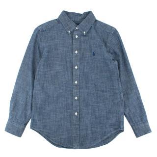 Ralph Lauren Blue Cotton Chambray Shirt