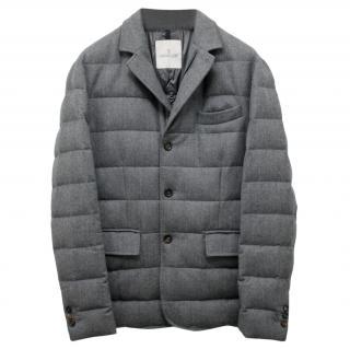 Moncler Men's Rodin Grey Down Coat