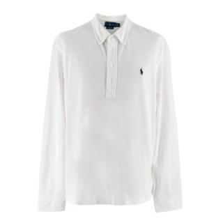 Ralph Lauren White Long-Sleeve Polo