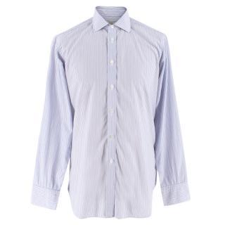 Turnbull & Asser Blue Striped Cotton Shirt