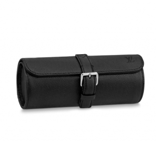 Louis Vuitton Graphite 3 Watch Case in Ta�ga leather