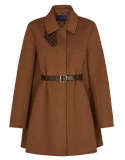 Louis Vuitton A-Line Belted Trapeze Coat - New Season