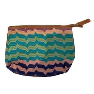 Missoni zig zag knit pouch