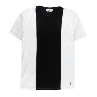 Alexander McQueen White Cotton T-shirt w/ Black Stripe