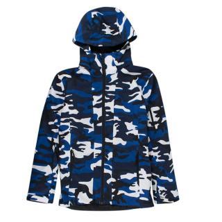 PeakPerformance Blue Camouflage Junior Maroon Ski Jacket